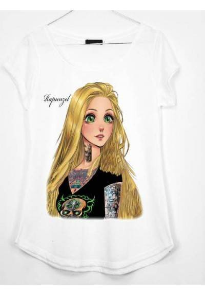 CAMISETA ESTAMPADA RAPUNCEL