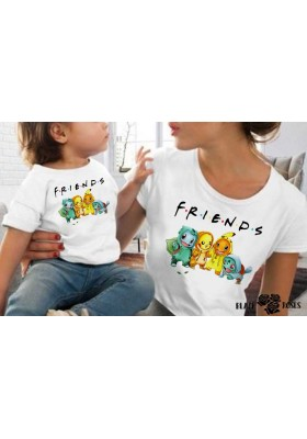 Camiseta Friends Pokemon
