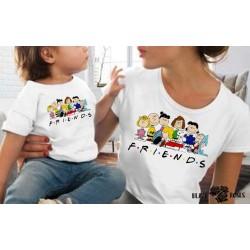 Pack de camisetas Friends Carlitos niña y adulto