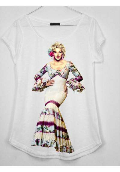 CAMISETA MARILYN FLAMENCA