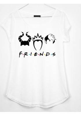 CAMISETA ESTAMPADA FRIENDS MALVADAS